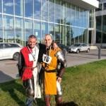 Nicolo Paternoster och Carmine Gardino i rustningar